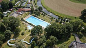 Moudon Camping Le Grand Pré pool, © Tourist Office of the Canton of Vaud