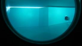 Diving helmet front view
